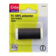 3040693633014 - Crea Pecam - Fil polyester multi-usages noir 200m