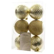 3602904894814 - Cora - Boîte de 6 boules cisélées et pailletées