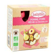 3288131540115 - Babybio - Pomme d'Aquitaine Poire & Pêche, bio dès 6 mois