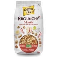 3421557920615 - Grillon Or - Mes krounchy 5 fruits bio raisin, banane, pomme, noix de coco et noisette