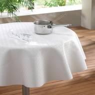 3574387104615 - Douceur D Interieur - Protège table rond blanc