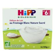 4062300205215 - Hipp - Fromage Blanc Nature sucré bio, dès 6 mois