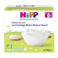 4062300205215 - Hipp - Délices de Lait - Fromage blanc nature sucré bio, dès 6 mois