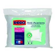 3307418319715 - Dodo - Lot de 2 oreillers moelleux anti-acariens