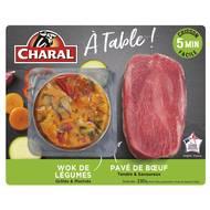 3181238969516 - Charal - Pavé de boeuf & wok de légumes