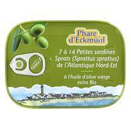 3263670201017 - Phare d'Eckmuhl - Petites Sardines Sprats à huile d'olive bio 128g