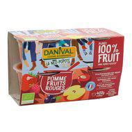 3431590013717 - Danival - Pomme fruit rouge bio sans sucres ajoutés