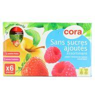 Cora - Gourde pomme fraise-pomme framboise sans sucre ajoutés