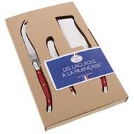 3219332069617 - Laguiole - Set 3 pièces fromage Rouge