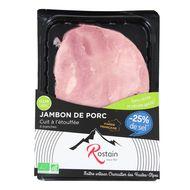 3507172000618 - Rostain - Jambon bio -25% de sel, sans nitrite ni nitrate ajouté, 160g