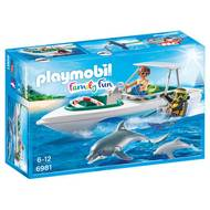 4008789069818 - PLAYMOBIL® Family Fun - Bateau de plongée