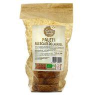 3760051390020 - Carrés Ronds - Palet bio aux éclats de caramel, sans gluten