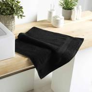3574388010021 - Douceur D Interieur - Serviette de toilette Eponge Noir