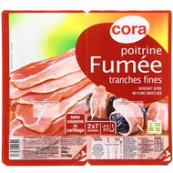 Cora - Poitrine fumée tranches fines 200g