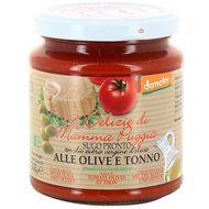 8021115291321 - Le Delizie Di Mamma Puggia - Sauce tomate olive et thon bio demeter