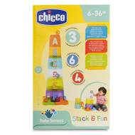 8058664085521 - Chicco - Jeu d'empilage avec balles- Stack & Fun