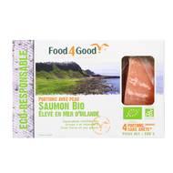 3426434000022 - Food4Good - 4 Portions de Saumon Bio élevé en Mer d'Irlande avec peau