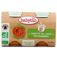3288131510422 - Babybio - Carotte des Landes, Potimarron Bio, dès 4 mois