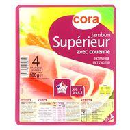 Cora - Jambon Supérieur avec couenne, 4 tranches