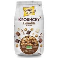 3421557110023 - Grillon Or - Mes krounchy 3 chocolats bio