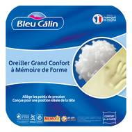 3153633460523 - Bleu calin - Oreiller Mémoire de Forme MEMOFILL