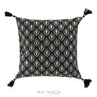3574386094023 - Douceur D Interieur - Housse de coussin Coton Or Noir