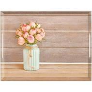 4009049444123 - Emsa - Plateau Vintage Rose en mélamine