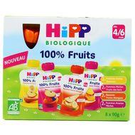 4062300264823 - Hipp - Gourdes Multipack 4 variétés bio dès 4/6 mois