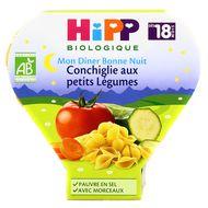 4062300086623 - Hipp - Bonne Nuit Conchiglie aux Petits Légumes assiette bio dès 18 mois