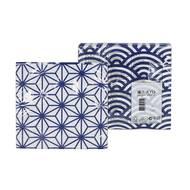 8718969934824 - Tokyo Design - Serviettes en papier Nippon Blue StarWave 33 x 33 cm
