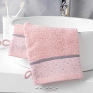 3574388012025 - Douceur D Interieur - 2 Gants de toilette Belina Rose