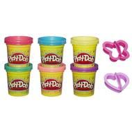 5010993544325 - Play-Doh - 6 pots de pâte à modeler à paillettes