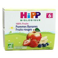 4062300126725 - Hipp - Coupelles pomme banane et fruits rouges bio, dès 6 mois