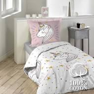 3574386425926 - Douceur D Interieur - Parure Licorne Lili rose 2 pièces
