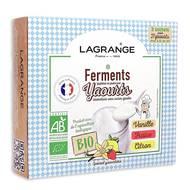 3196203850027 - Lagrange - Fermants bio aromatisés pour yaourt vanille/fraise/citron