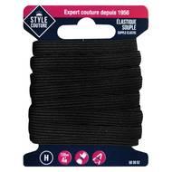 3040695830527 - Style couture - Elastique souple Noir 7,5mmx4m