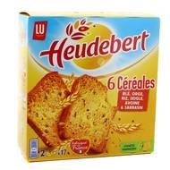 Heudebert - Biscottes 6 céréales, 2x17 tranches
