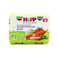 4062300066427 - Hipp - Carottes Petits Pois Poulet bio, dès 6 mois
