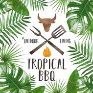 4021766248327 - Paperproducts Design - Serviettes Tropical BBQ white