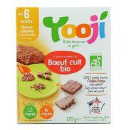 3760234509027 - Yooji - Bœuf bio VBF haché, cuit et surgelé en galets dès 6 mois