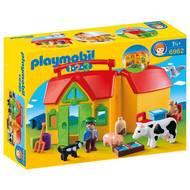 4008789069627 - PLAYMOBIL® 1.2.3 - Ferme transportable avec animaux