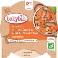 3288131501628 - Babybio - Navarin de petits légumes et agneau français bio, dès 12 mois