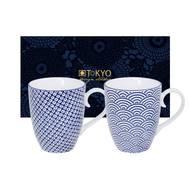 8719323533028 - Tokyo Design - Set 2 Mugs Nippon Blue Wave Raindrop