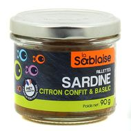 3375160004128 - La Sablaise - Rillettes sardine, citron confit & basilic