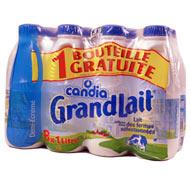Grand lait 1/2 écrémé 8x1 litre,CANDIA,8x1L