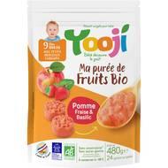 3760234500529 - Yooji - Ma purée de fruits bio- Pomme, fraise, basilic surgelée bio dès 9 mois