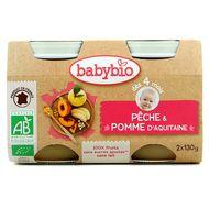3288131510729 - Babybio - Pêche Pomme d'Aquitaine bio, dès 4 mois
