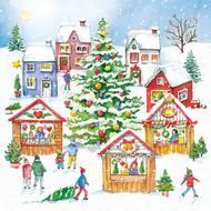 4021766262729 - Paperproducts Design - Serviettes Christmas Market 33x33 cm