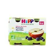4062300055629 - Hipp - Pommes Myrtilles bio, dès 4/6 mois