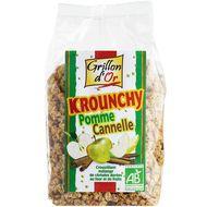3421557110030 - Grillon Or - Krounchy pomme-cannelle, bio